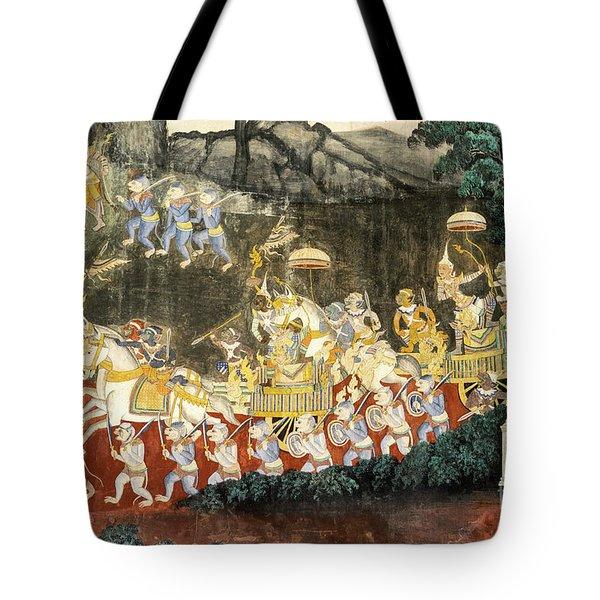 Royal Palace Ramayana 11 Tote Bag