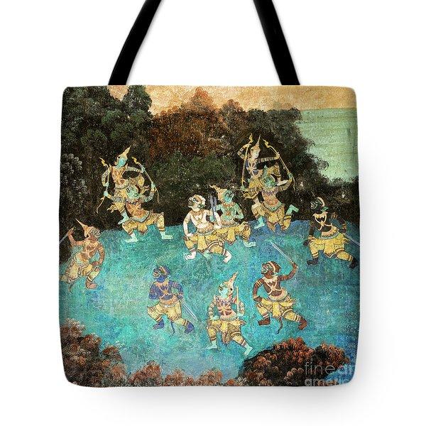 Royal Palace Ramayana 16 Tote Bag