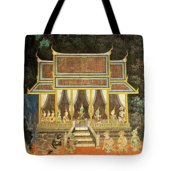 Royal Palace Ramayana 18 Tote Bag