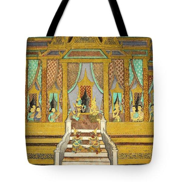 Royal Palace Ramayana 21 Tote Bag