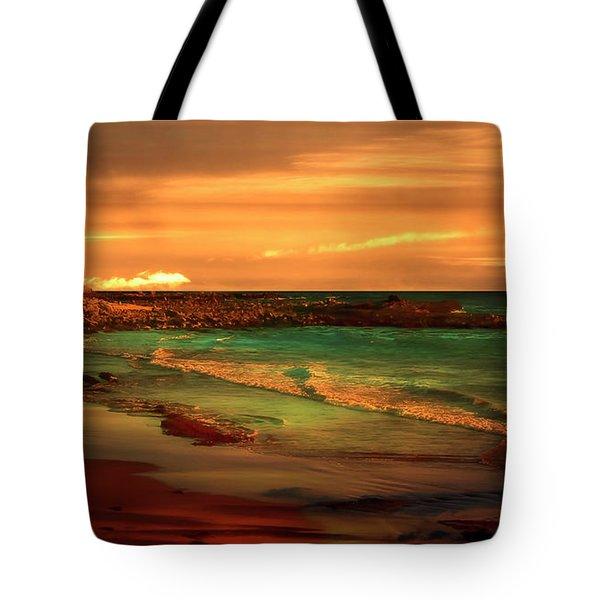 Royal Palms Beach At White Point Tote Bag