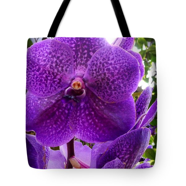 Royal Purple Orchids Tote Bag