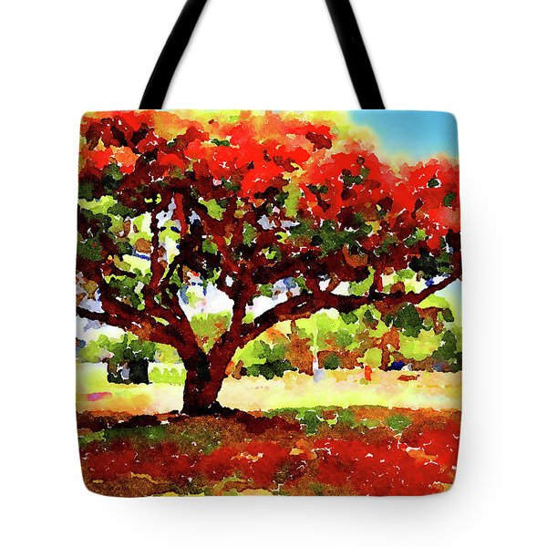 Tote Bag featuring the painting Royal Red by Angela Treat Lyon
