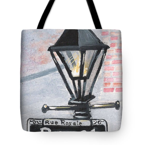 Royal Street Lampost Tote Bag by Elaine Hodges