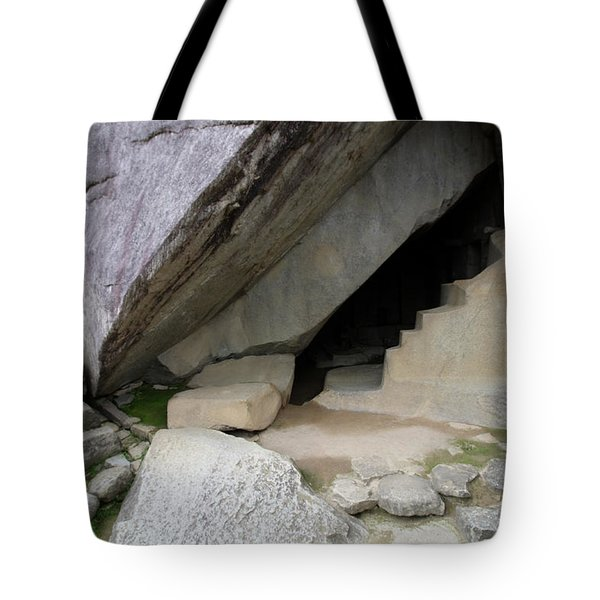 Tote Bag featuring the photograph Royal Tomb, Machu Picchu, Peru by Aidan Moran