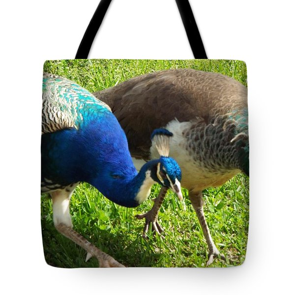 Royal Walk-about Tote Bag by Audrey Van Tassell