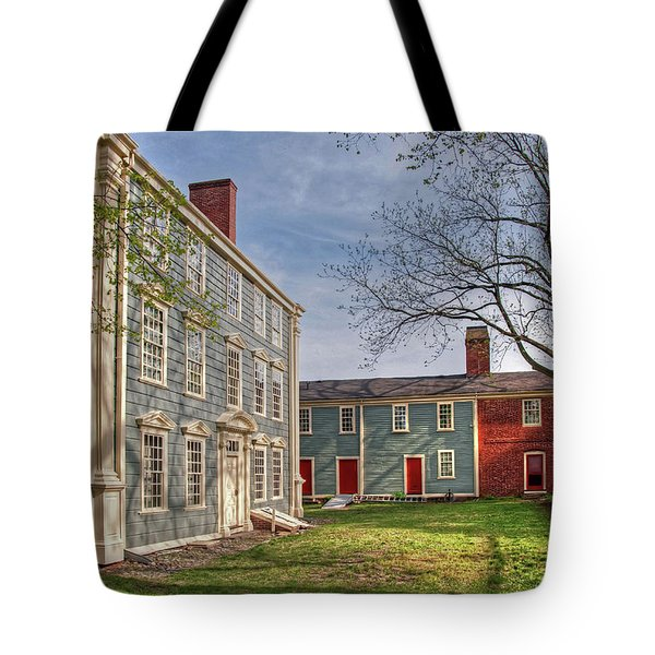 Tote Bag featuring the photograph Royall House And Slave Quarters by Wayne Marshall Chase