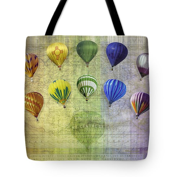 Tote Bag featuring the digital art Roygbiv Balloons by Melinda Ledsome