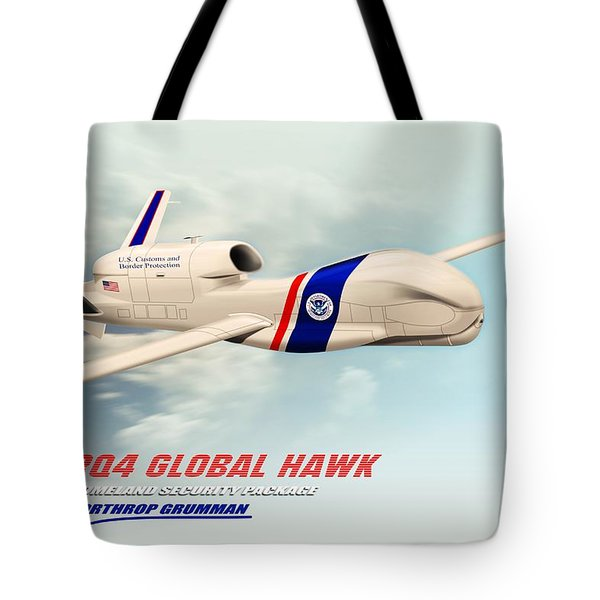 Rq4 Global Hawk Drone United States Tote Bag