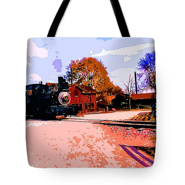 Country Railroad Crossing Tote Bag