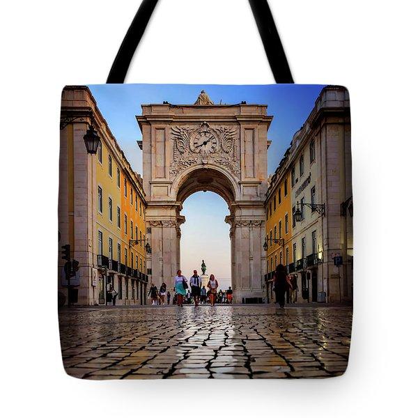 Rua Augusta Arch Lisbon Tote Bag