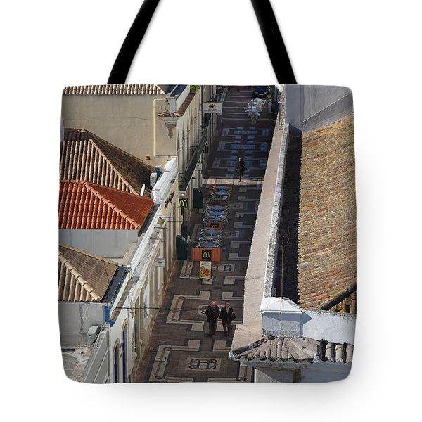 Rua Do Crime In Faro Tote Bag by Angelo DeVal
