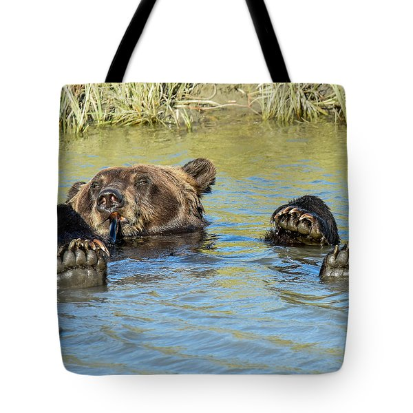 Rub A Dub Dub A Bear In His Tub Tote Bag