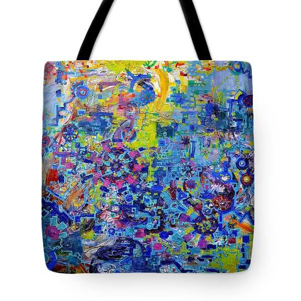 Rube Goldberg Abstract Tote Bag by Regina Valluzzi
