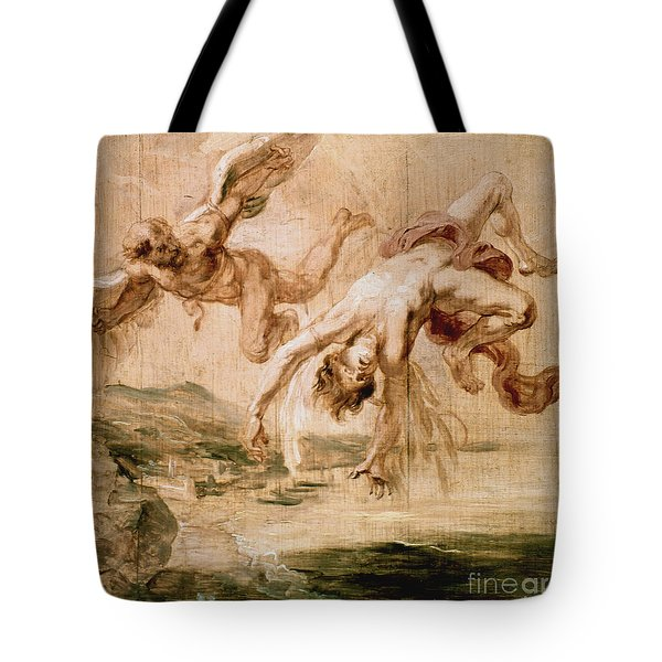 Rubens:fall Of Icarus 1637 Tote Bag by Granger