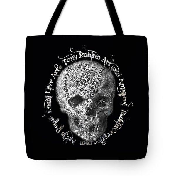 Rubino Metal Skull Tote Bag