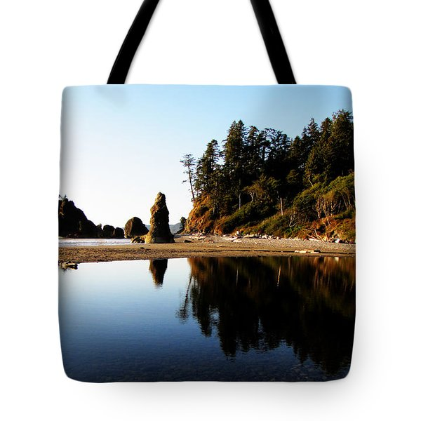 Ruby Beach Reflections Tote Bag