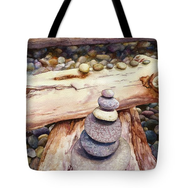 Tote Bag featuring the painting Ruby Beach by Anne Gifford