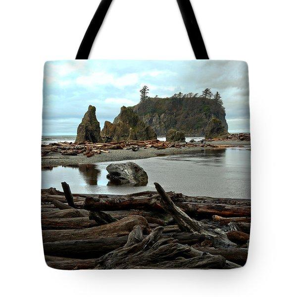 Ruby Beach Driftwood Tote Bag