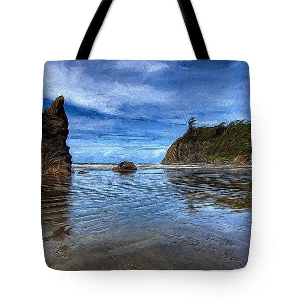 Ruby Beach Tote Bag