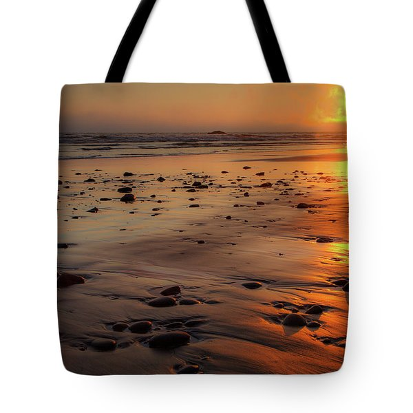 Tote Bag featuring the photograph Ruby Beach Sunset by David Chandler