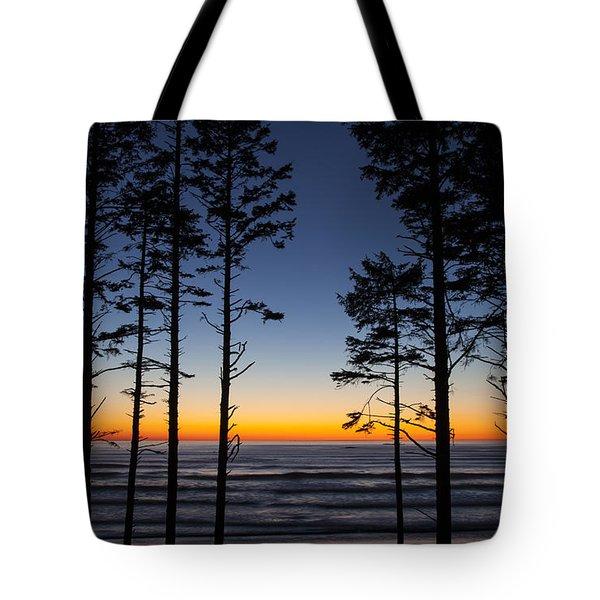 Ruby Beach Trees #4 Tote Bag