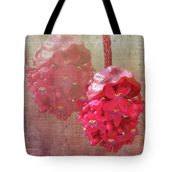 Ruby Colored Orchid Tote Bag