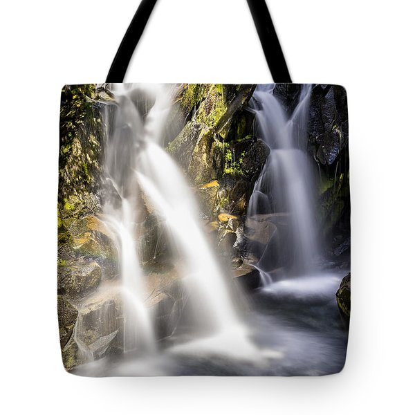 Ruby Creek Lower Falls Mt Rainier Tote Bag