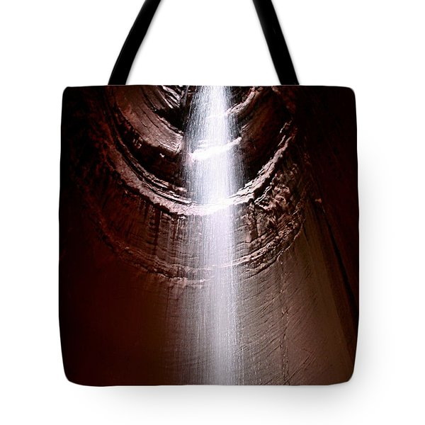 Tote Bag featuring the photograph Ruby Falls by Debra Forand