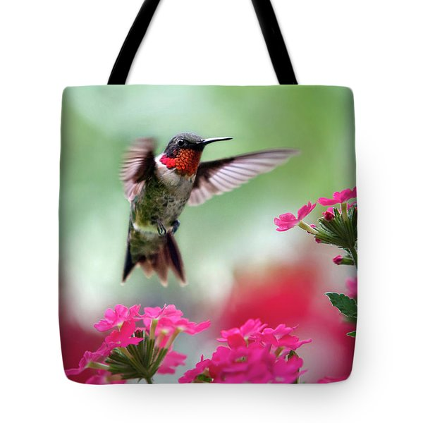 Ruby Garden Jewel Tote Bag by Christina Rollo