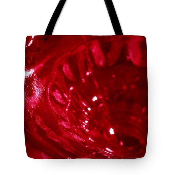 Ruby Glass Beauty Tote Bag