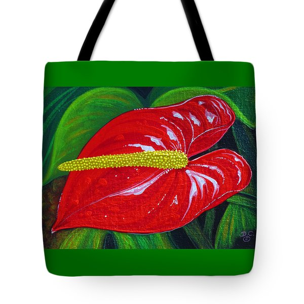 Tote Bag featuring the painting Ruby Holiday by Debbie Chamberlin