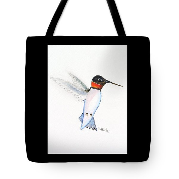 Tote Bag featuring the painting Ruby Hummer by Patricia Piffath