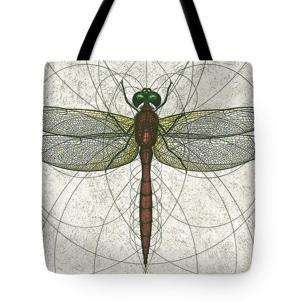 Ruby Meadowhawk Dragonfly Tote Bag by Charles Harden