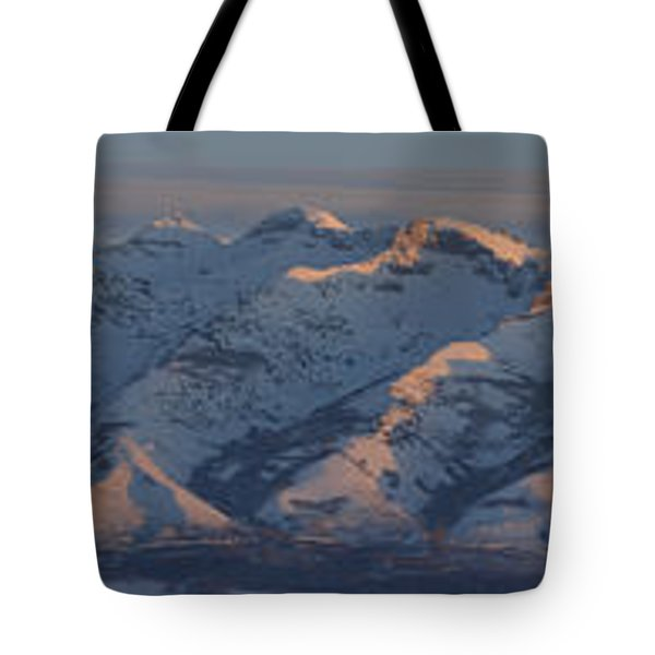 Ruby Mountains Panorama Tote Bag by Jenessa Rahn