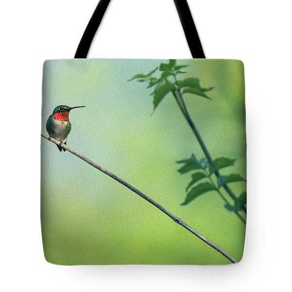 Ruby Red Perch Tote Bag