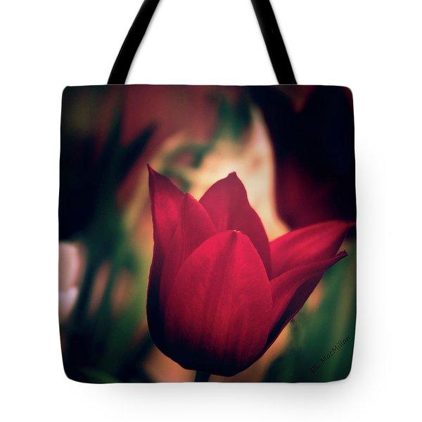 Ruby Red Tulip Tote Bag