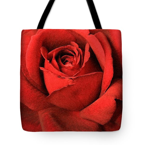 Ruby Rose Tote Bag by Marna Edwards Flavell