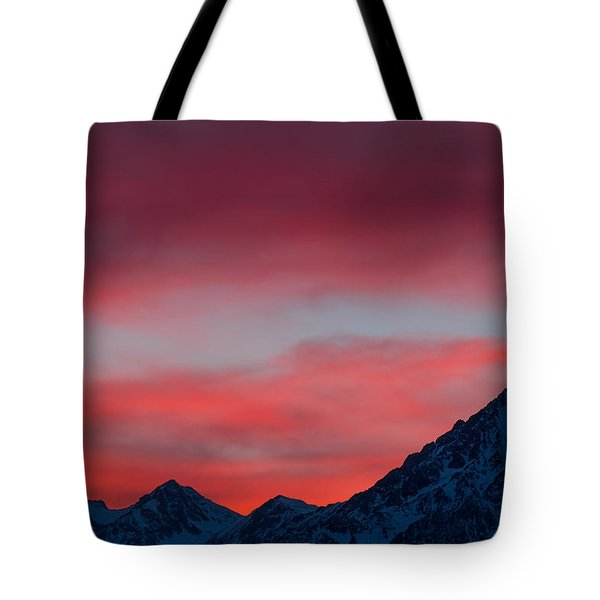 Tote Bag featuring the photograph Ruby Skies by Jan Davies