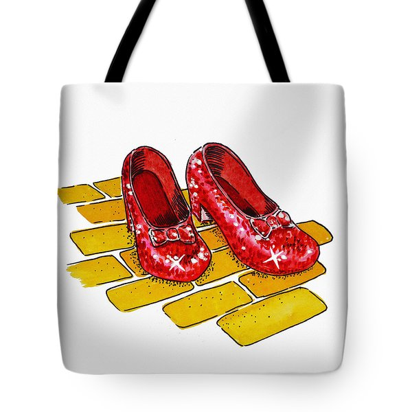 Ruby Slippers The Wizard Of Oz  Tote Bag
