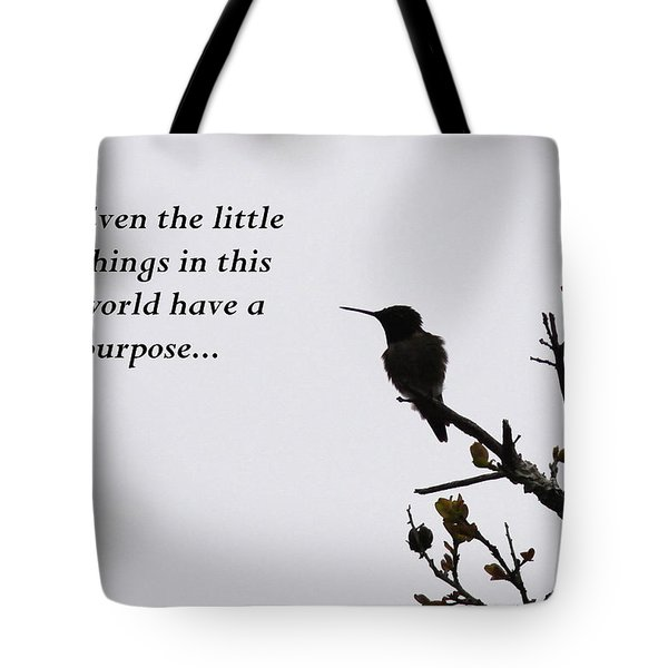 Ruby-throated Hummingbird - Little Things Tote Bag by Travis Truelove