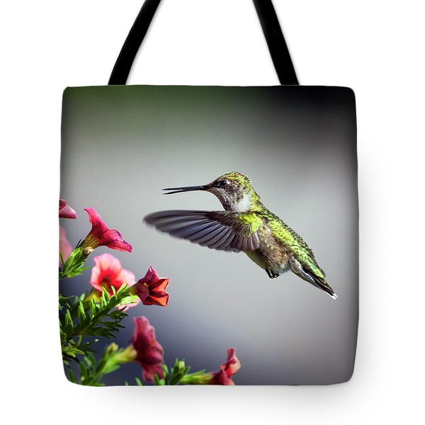 Ruby Throated Hummingbird #1 Tote Bag