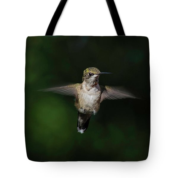 Ruby Throated Hummingbird Tote Bag