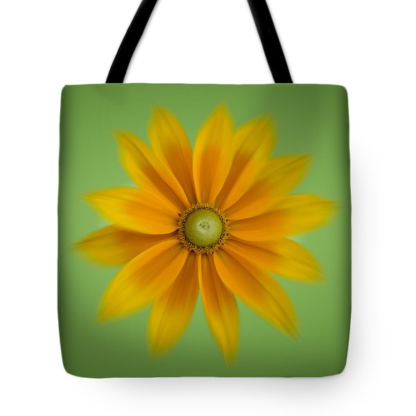 Rudbeckia Blossom Irish Eyes - Square Tote Bag by Patti Deters