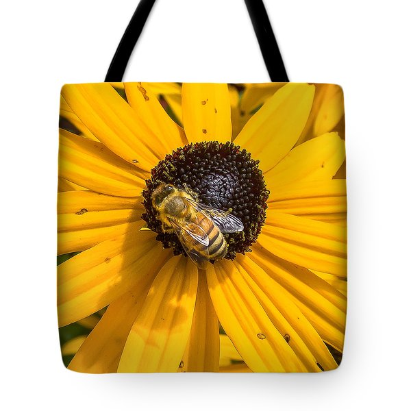 Rudbeckia With Bee Tote Bag