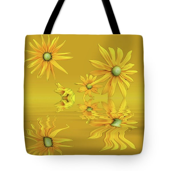 Tote Bag featuring the photograph Rudbekia Yellow Flowers by David French
