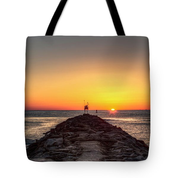 Rudee Inlet Jetty Tote Bag