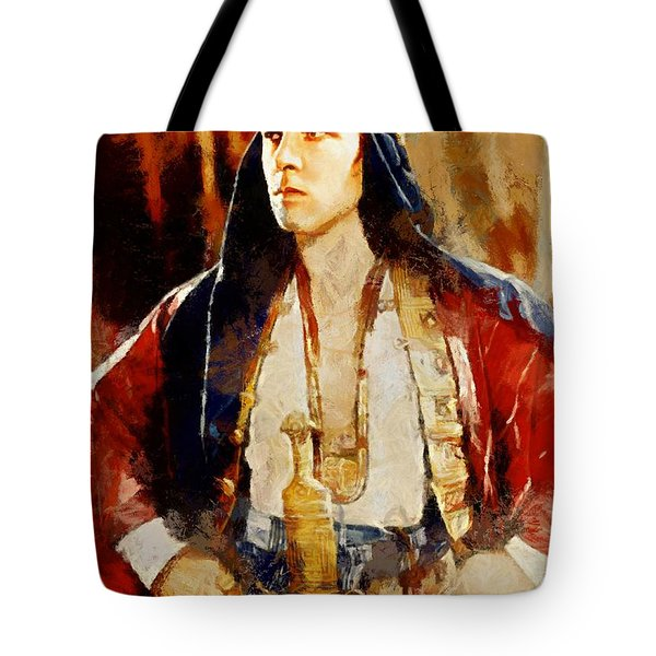 Rudolph Valentino As The Sheikh Tote Bag