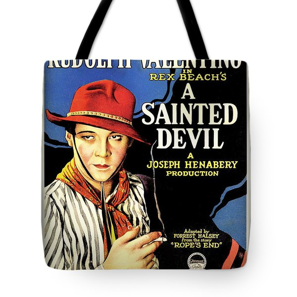 Rudolph Valentino In A Sainted Devil 1923 Tote Bag