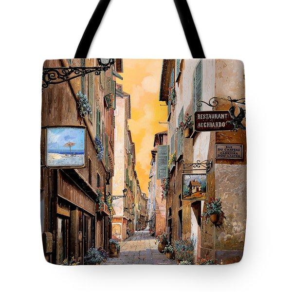 Rue Droite Nice  Tote Bag